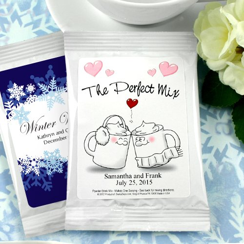 winter bridal shower favors