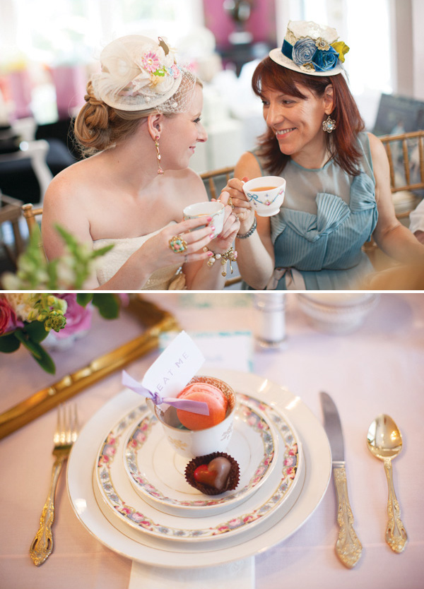 this vintage mad hatter bridal shower has so much flair special vintage pieces created just a lovely celebration for the bride to be