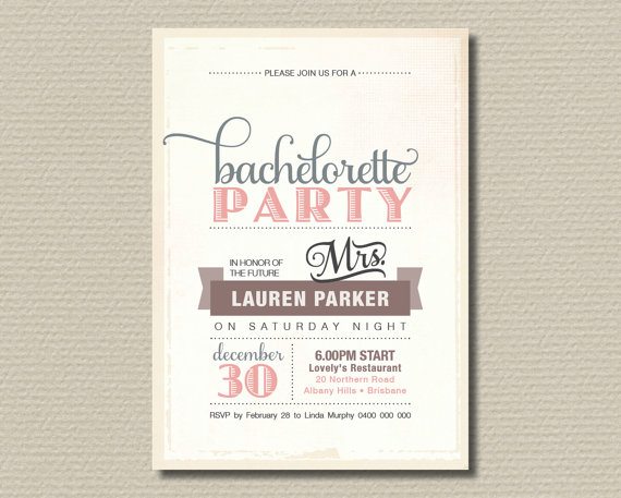 7 Bachelorette Party Invites Were Swooning Over TrueBlu – Vintage Bachelorette Party Invitations