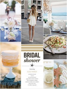 Inspiration Board: Seaside Bridal Shower