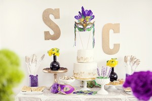 A Mardi Gras Bridal Shower