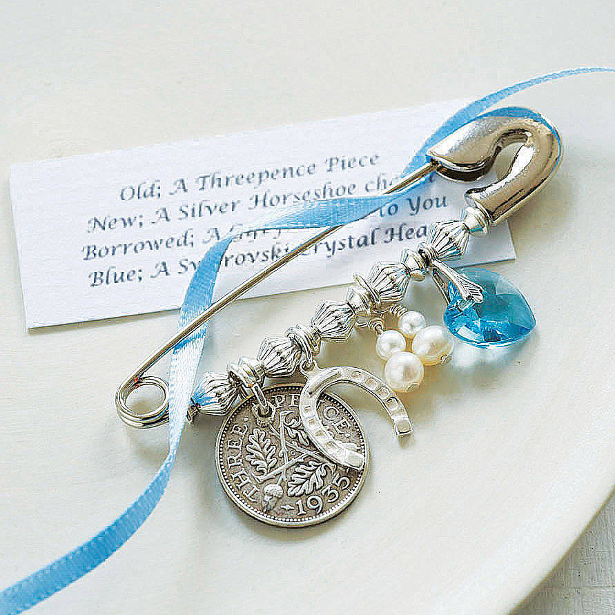 Wedding Gift For New Bride : ... blue. Perfect for pinning inside the wedding dress for good luck
