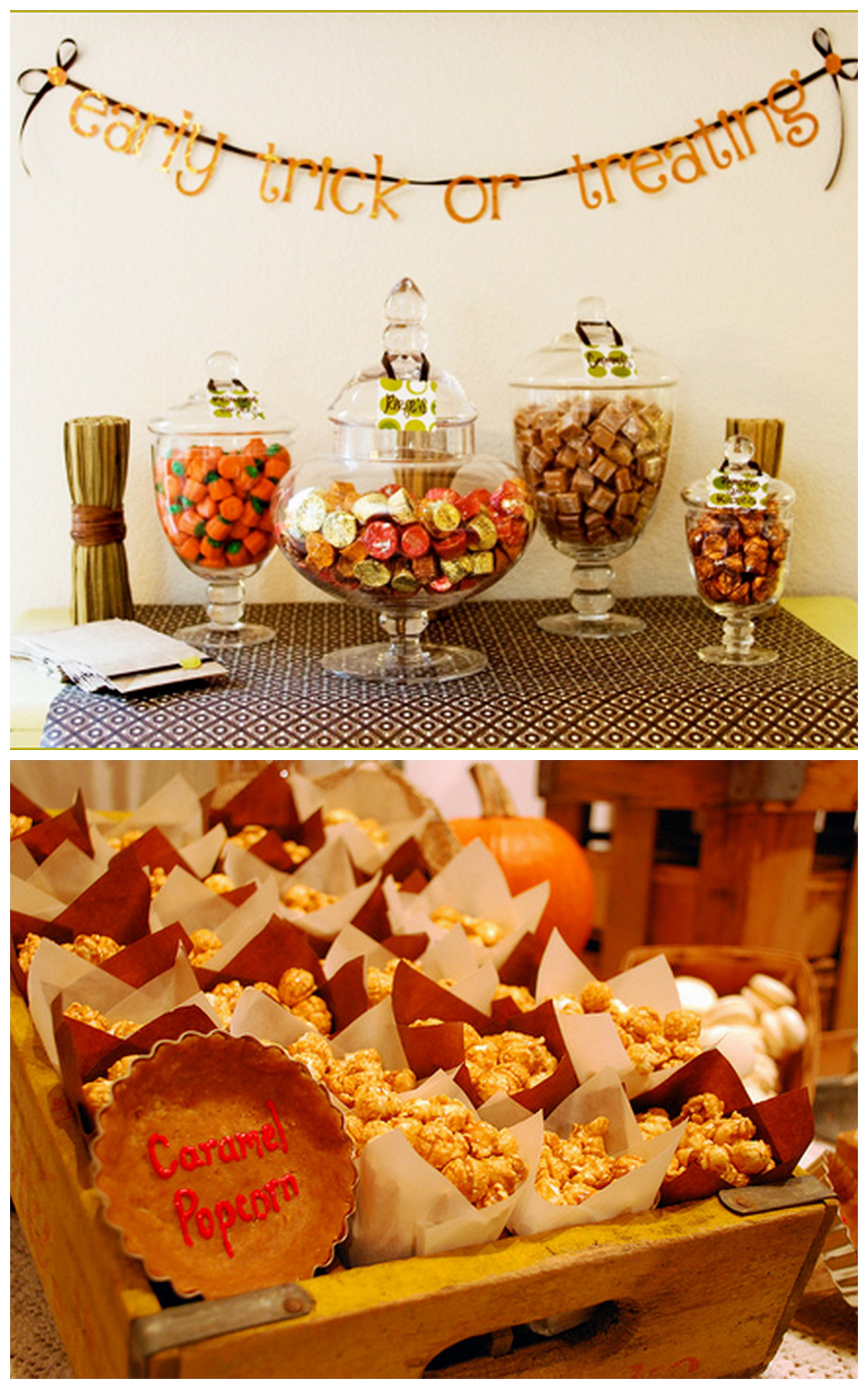 Fall bridal shower ideas and inspiration trueblu for Autumn party decoration ideas