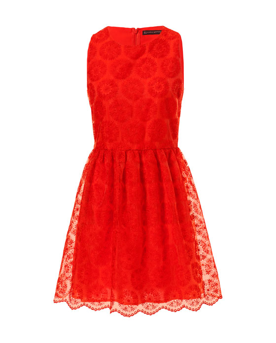Zara S Bright Red Lacy Dress Is My Wedding Day Wear Pick I Kind Of Slip This In Since Ll Be Wearing For A Friend October