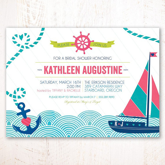 NauticalThemed Bridal Shower Ideas TrueBlu Bridesmaid Resource