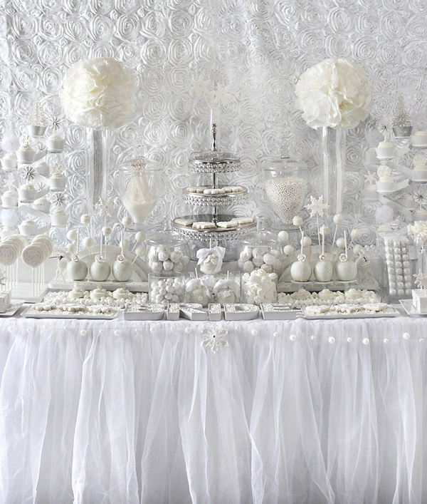 all white bridal shower ideas