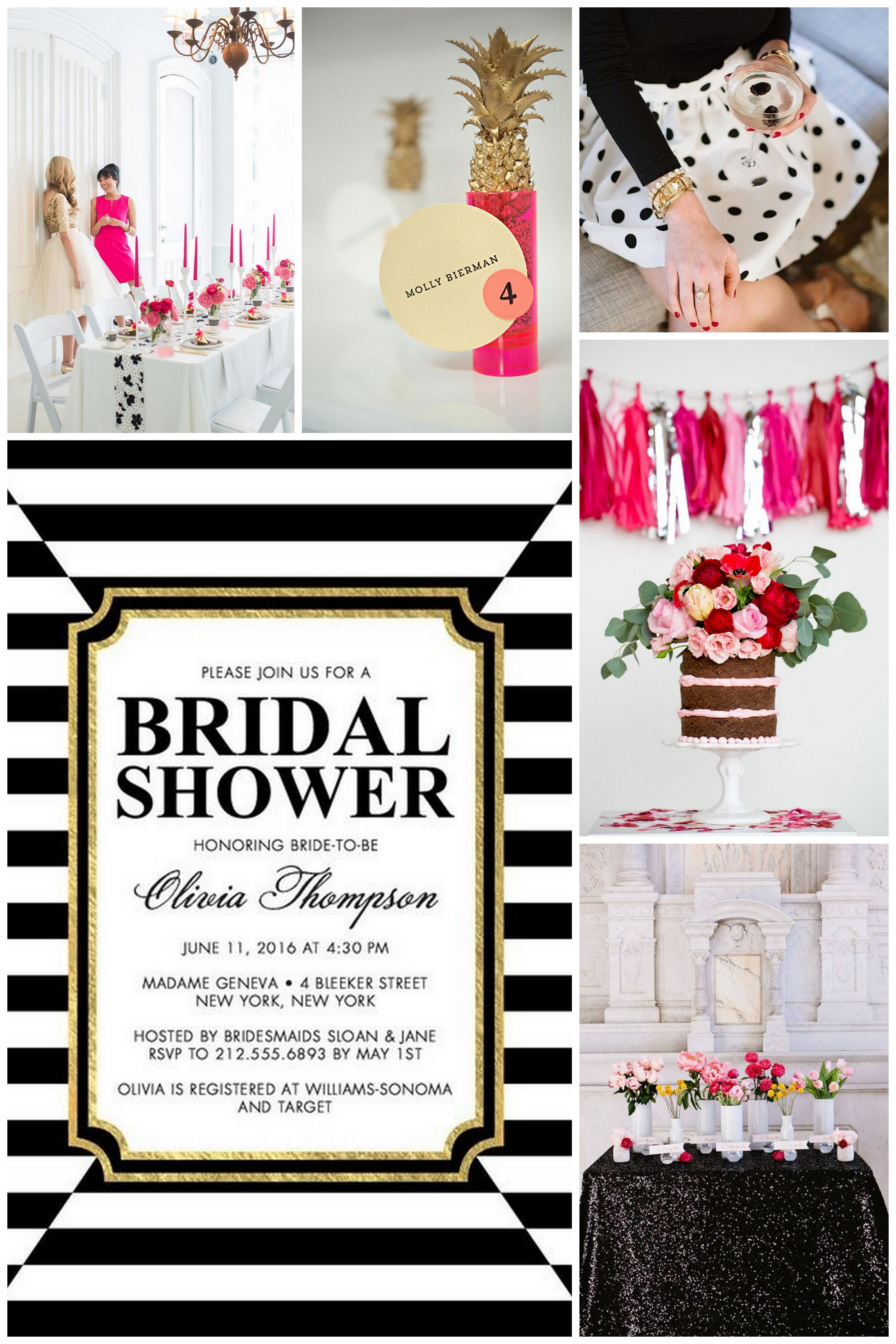 Striking Elegance Bridal Shower Inspiration  TrueBlu