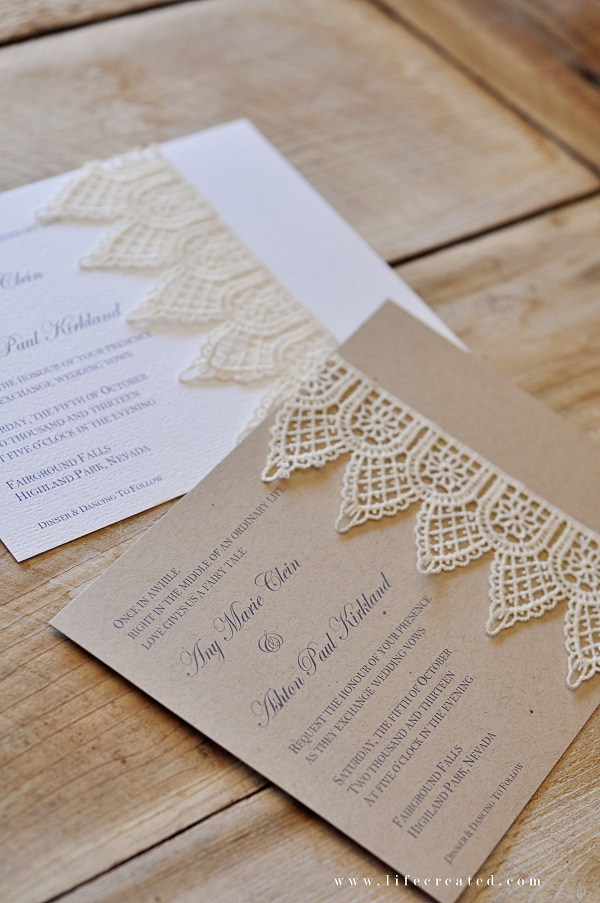 how to dress up bridal shower invitations