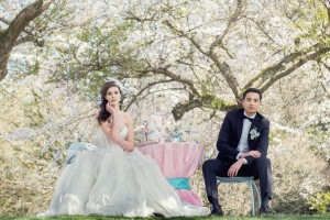 Stylized Cherry Blossom Bridal Session