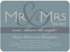 Mr. and Mrs. Bridal Shower Theme