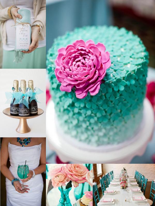 turquoise bridal shower inspiration