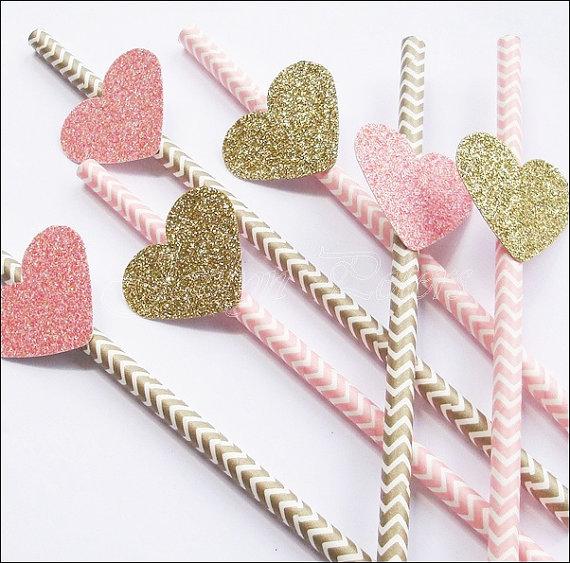 glitter-heart-straws