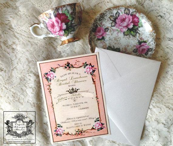 vintage roses invitation