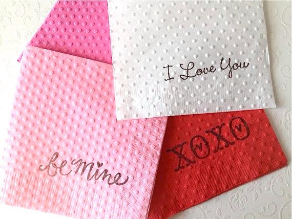 valentine-napkins