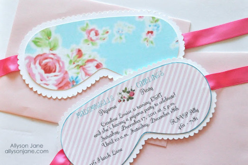 pick a cute spa theme to feature on the bridal shower invitations i love the idea of creating sleep mask shaped invitations like the ones above
