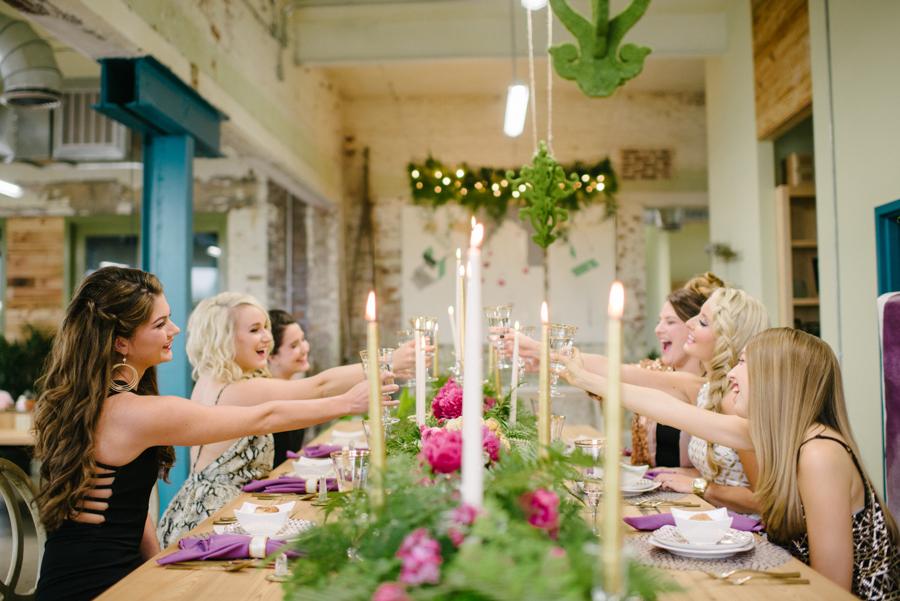 Glam Bachelorette Dinner Party by Sean Money + Elizabeth Fay