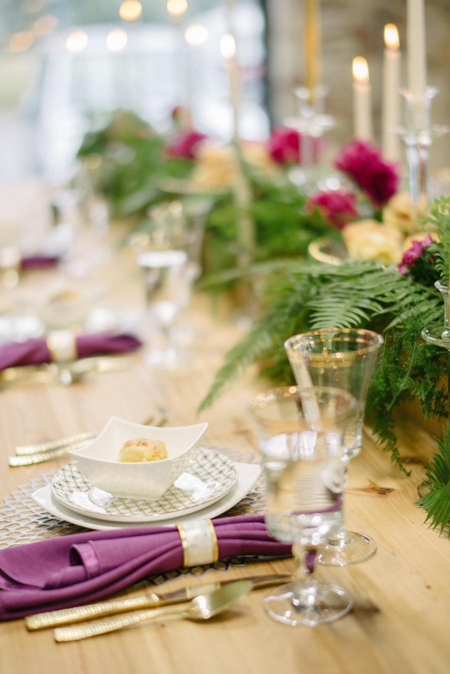 Glam Bachelorette Party Table Setting by Sean Money + Elizabeth Fay