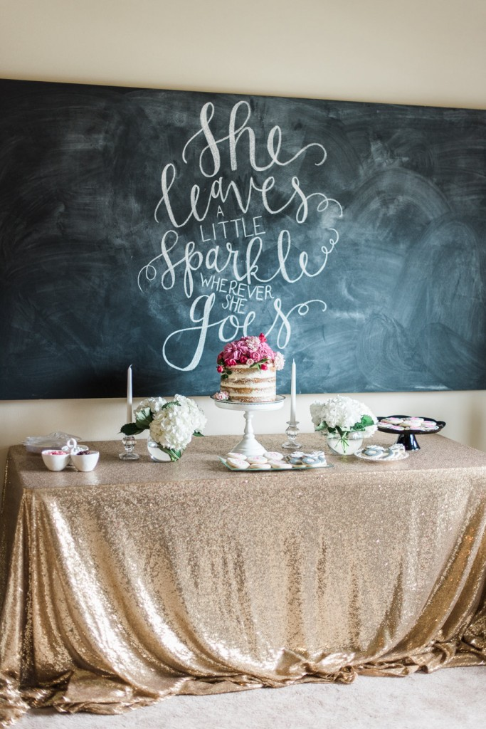 Kate Spade Bridal Shower Sweets Table