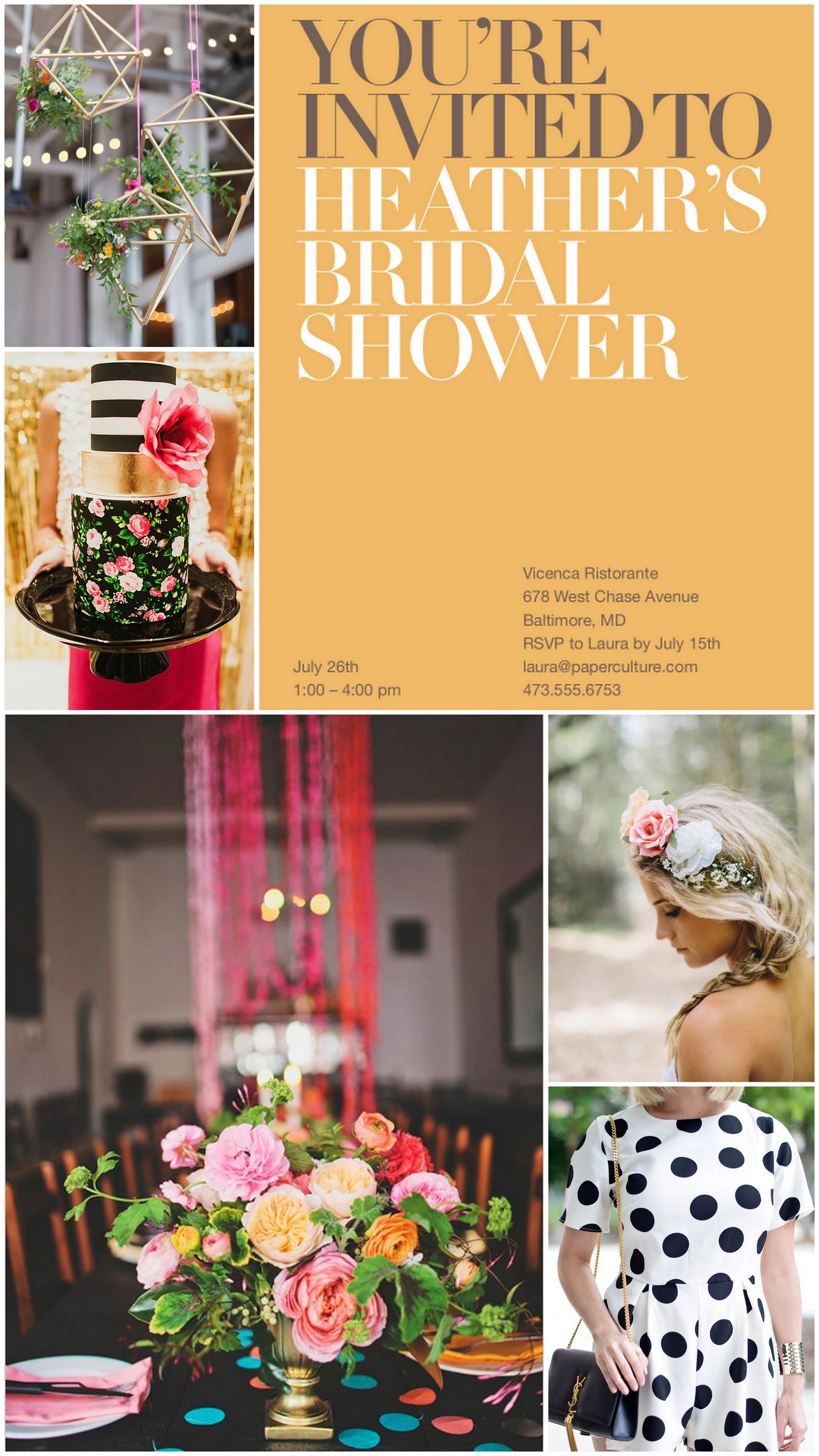 modern bridal shower inspiration