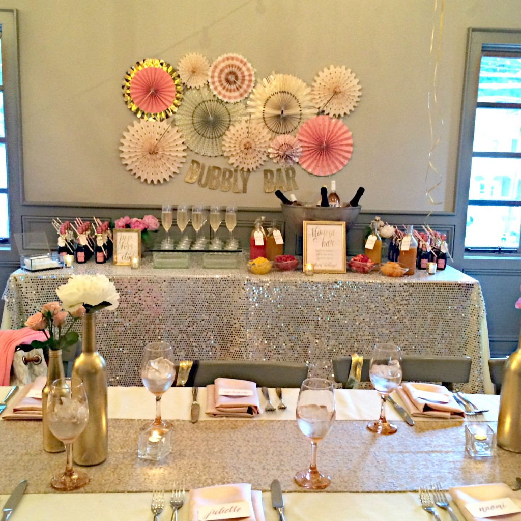 Wedding Party Ideas: Elegant Pink And Gold Bridal Shower - TrueBlu