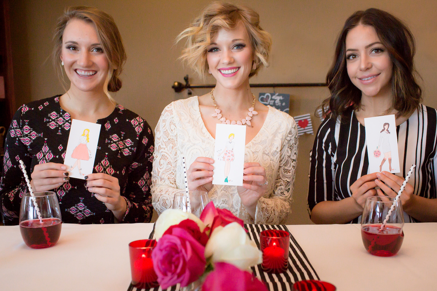 Pink and Red Bridal Shower Ideas