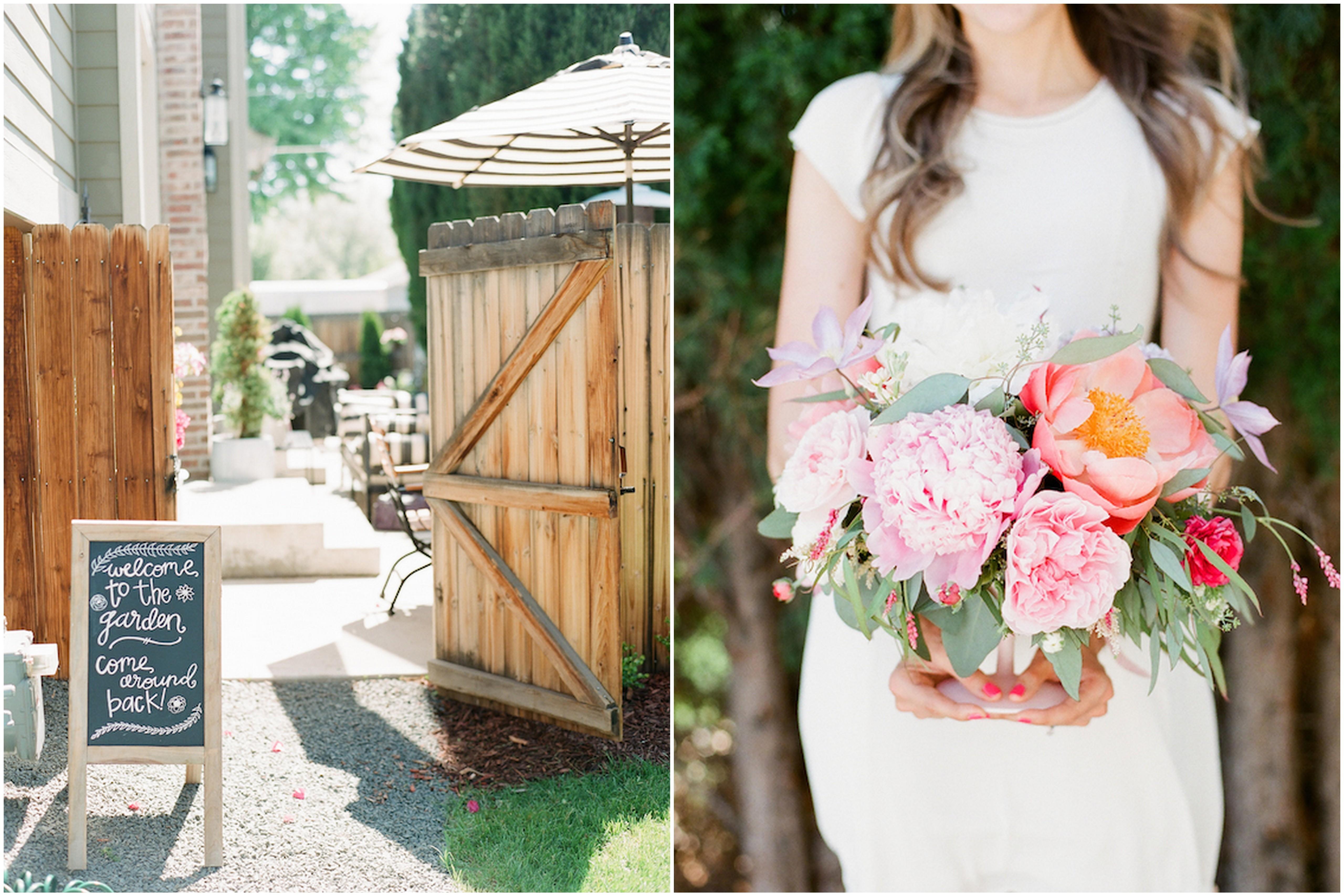bright garden spring bridal shower