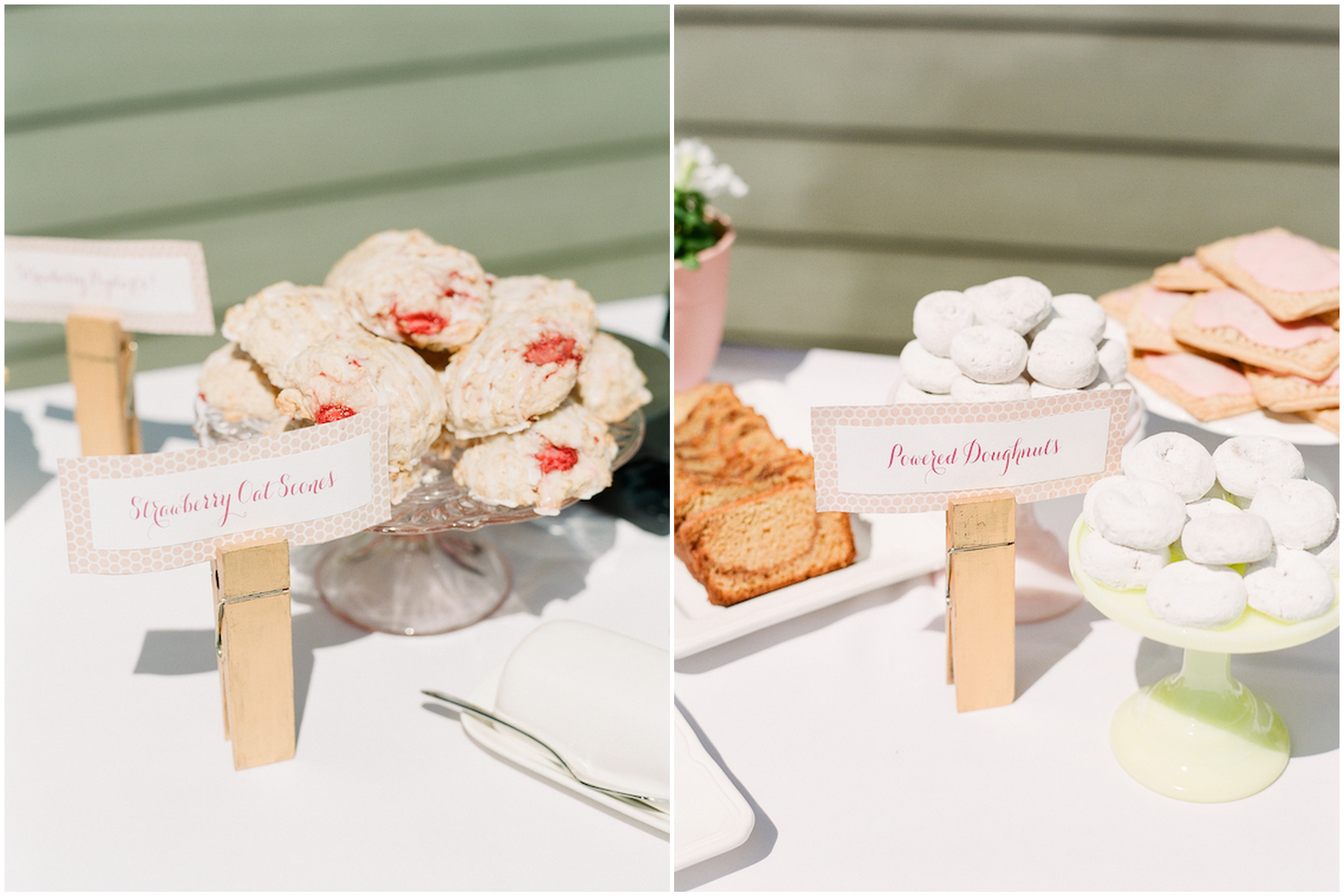 spring bridal shower sweets table
