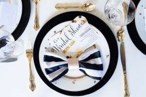 Black + White Geometric Bridal Shower