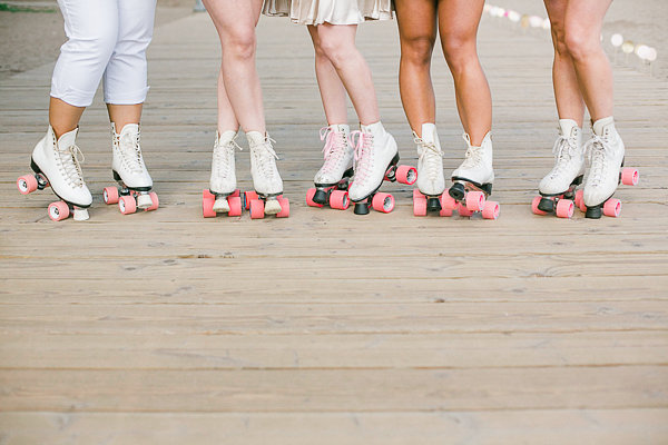 Beachside Rollerskating Bachelorette Rhythm Photography