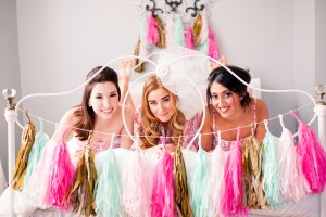 Glamorous Bridesmaid Proposal Slumber Party