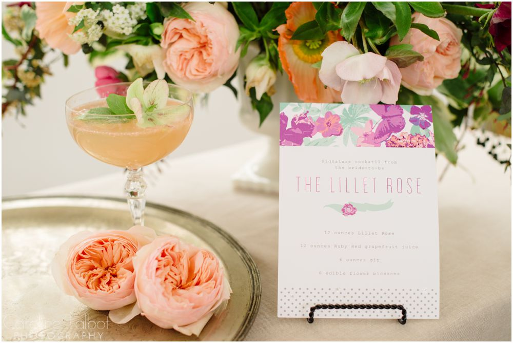 bridal shower signature cocktail image by caroline talbot photography