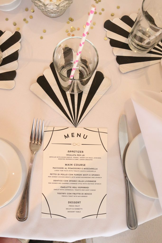 Modern Black, White, and Pink Bridal Shower