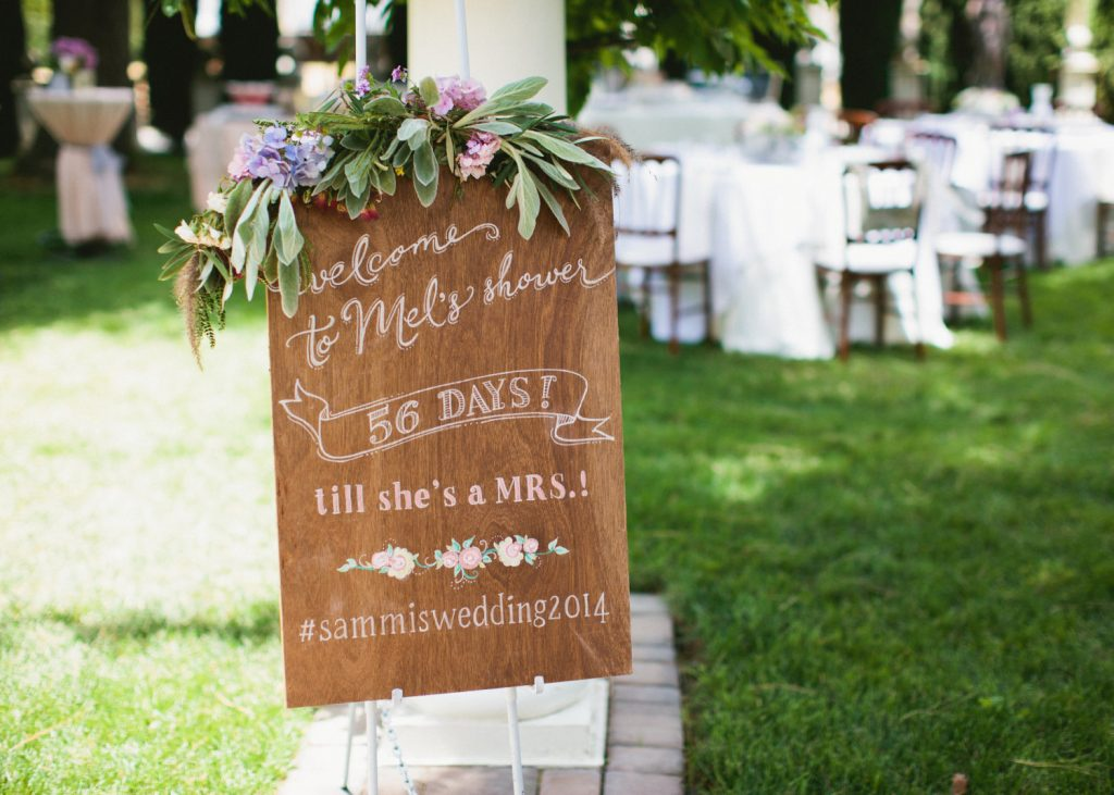 bridal shower sign wedding countdown