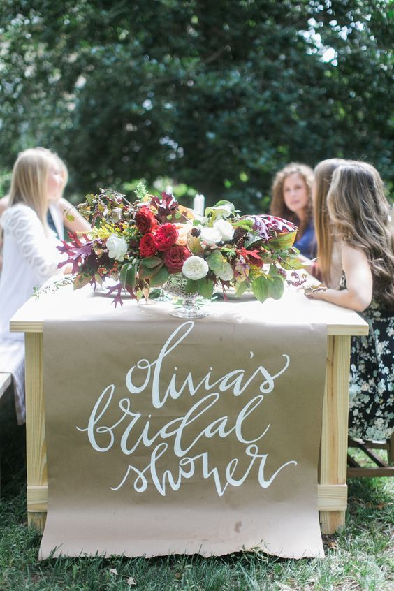 personalized bridal shower craft runner