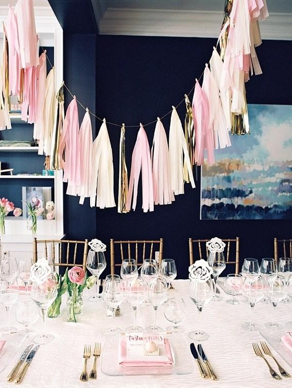 Pink Tassel Party Decor