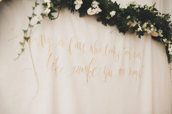 Bridal Shower Calligraphy Photo Backdrop