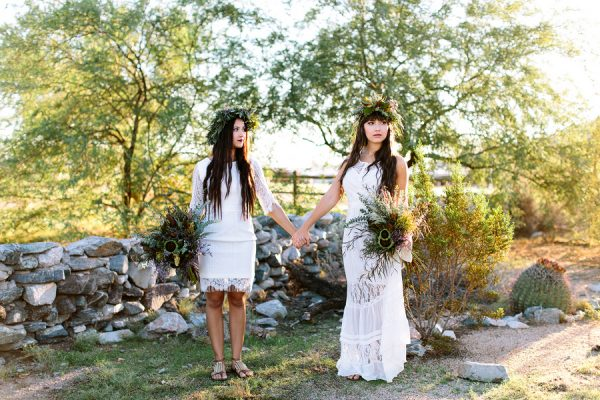 Bohemian Bride + Maid of Honor Inspiration