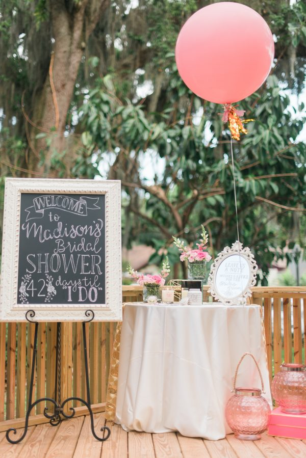bridal shower chalkboard sign outdoor