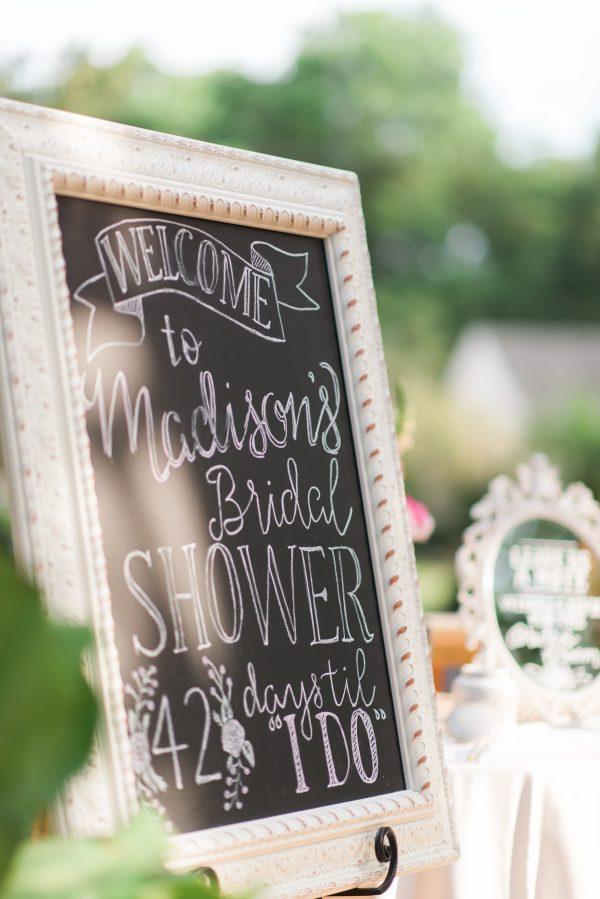 Bridal Shower Chalkboard Sign