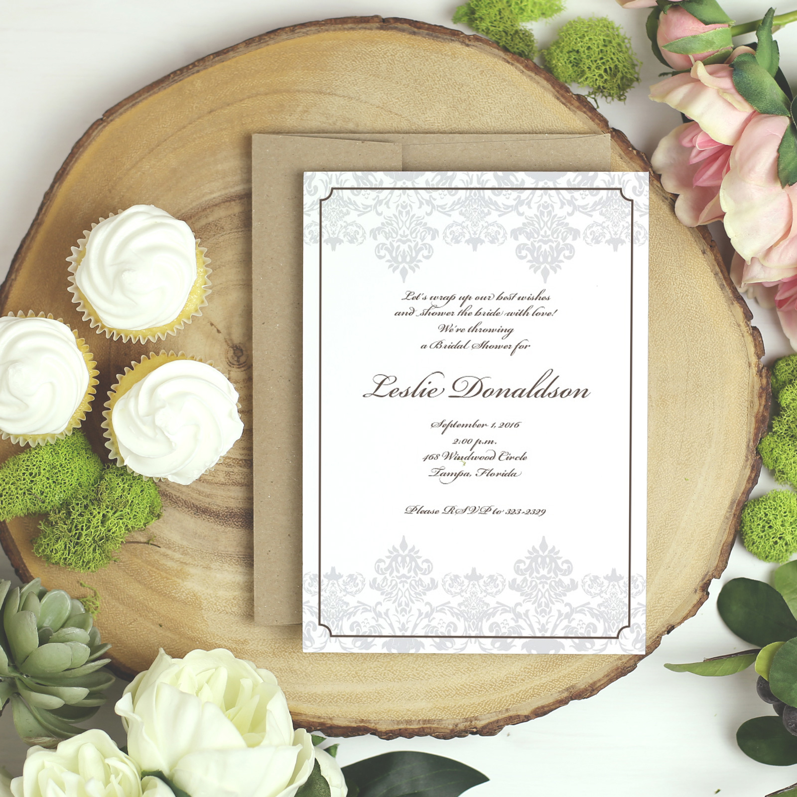 Basic Invite bridal shower invitations