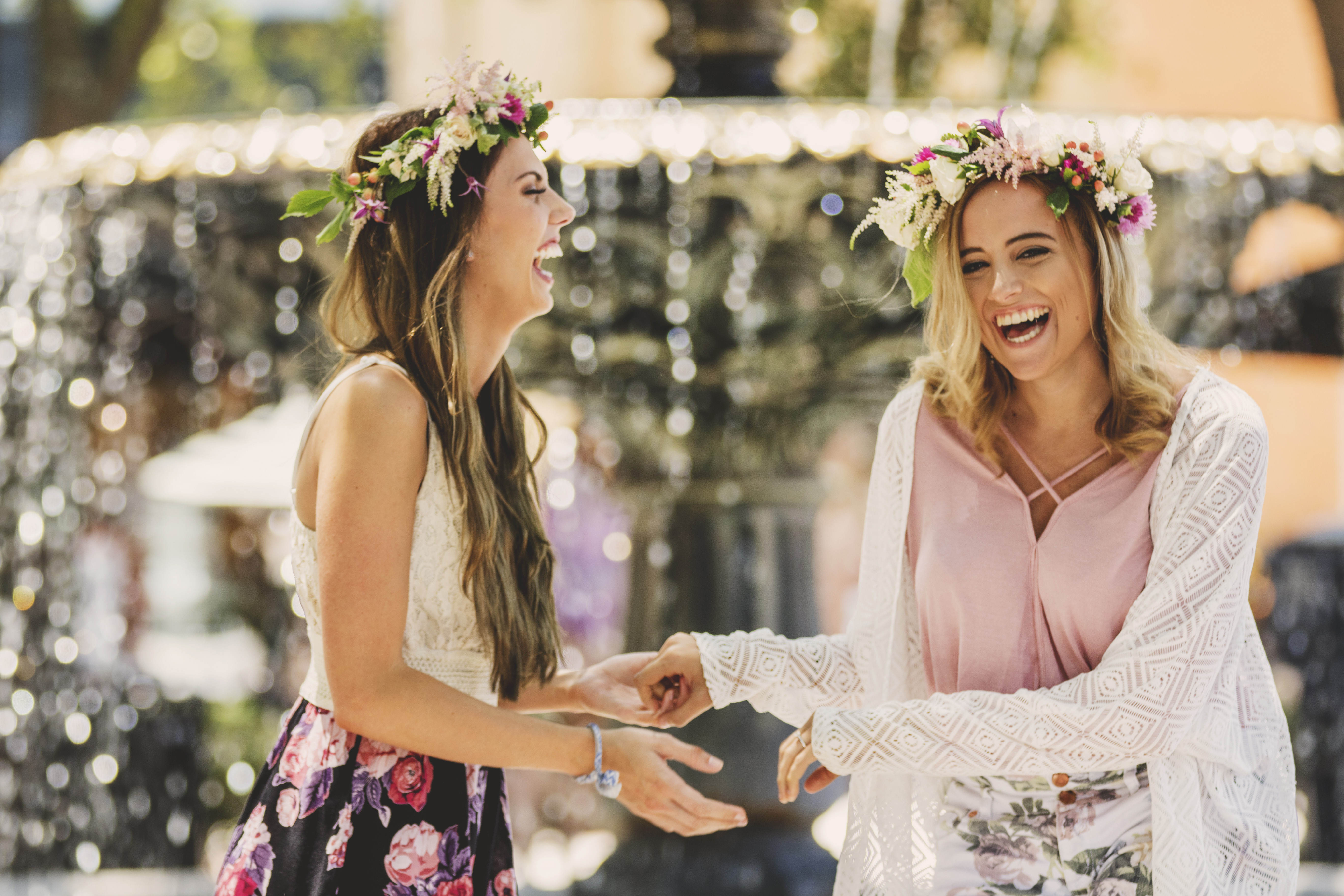 The ladies visited the lovely Florist Fire for flower crown making and  afterwards gathered for a dreamy bachelorette photoshoot captured by Laura  Martinez ... 9f89b232fca