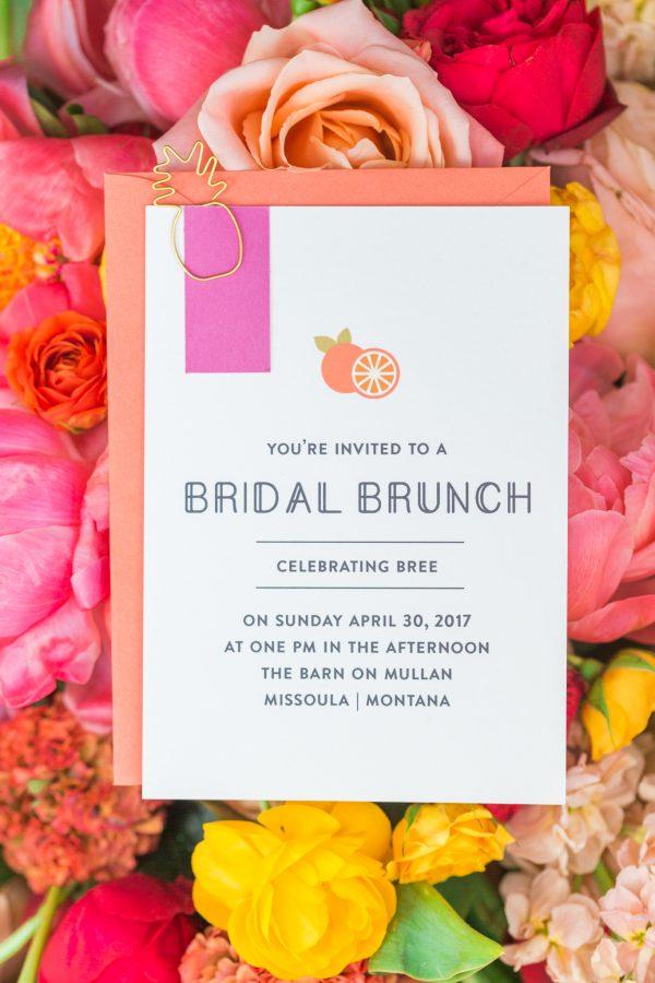 tropical bridal shower invitation ideas