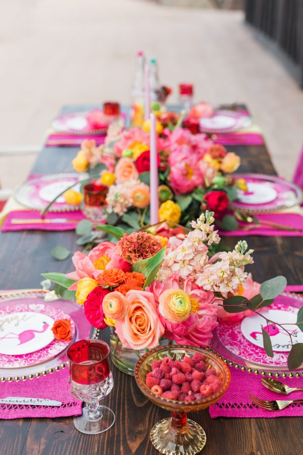 flamingo bridal shower ideas