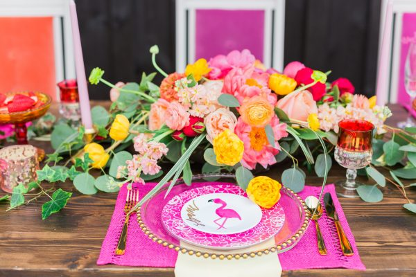 colorful bridal shower ideas