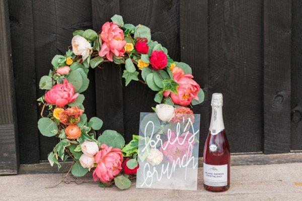 floral wreath bridal shower
