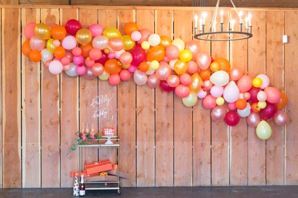 balloon decoration bridal shower