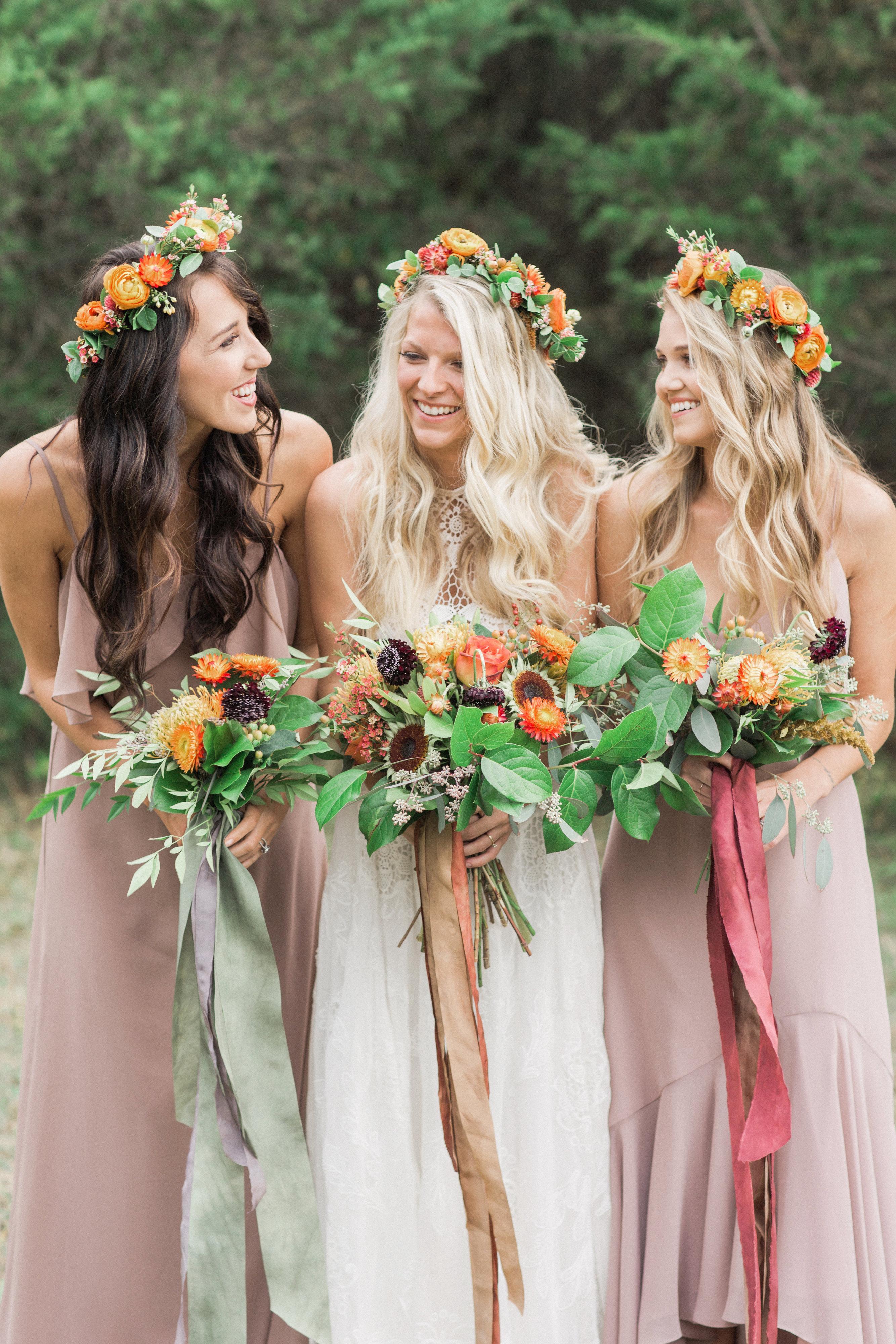 Fall Bohemian Bridesmaid Party Inspiration - TrueBlu ...